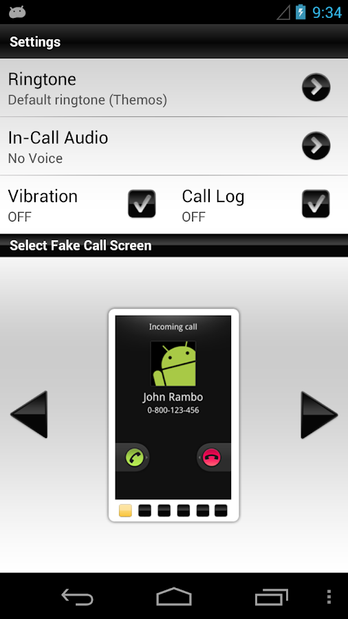 Fake Me A Call Pro - screenshot