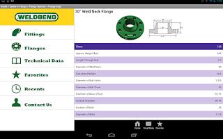 Screenshot of Weldbend Field Reference