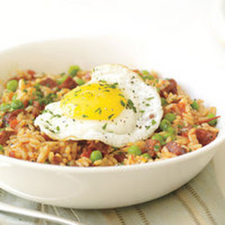Sunny-Side Sausage Fried Rice Recipe