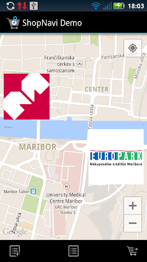 ShopNavi Maribor Demo