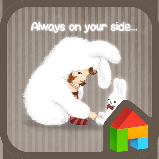 個人化必備App|토끼와 나 도돌런처 테마 LOGO-綠色工廠好玩App