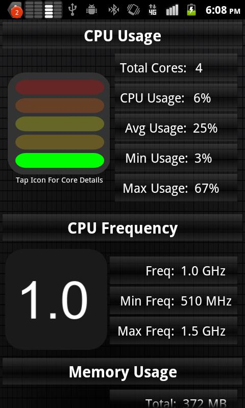 CPU Usage Monitor - screenshot