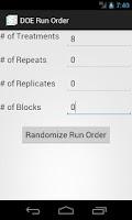 Screenshot of DOE Run Order