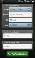 Screenshot of MasterCard PayPass Locator
