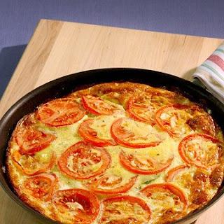 Zucchini Tomato Frittata.