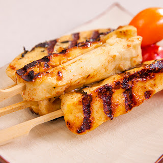 Lime and Honey Haloumi Skewers.