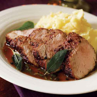 Pork Tenderloin with Sage & Marsala Sauce.