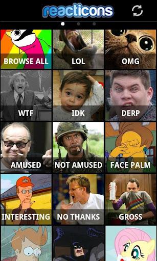 Reacticons -funny texting pics