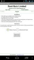 Screenshot of Root Quiz - Limited