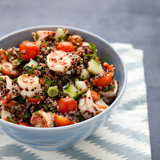Quinoa Tabbouleh with Lemony Shrimp