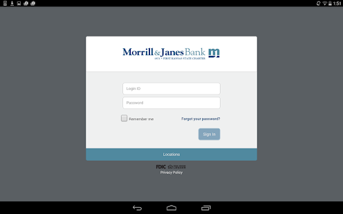Morrill & Janes Bank and Trust - screenshot thumbnail