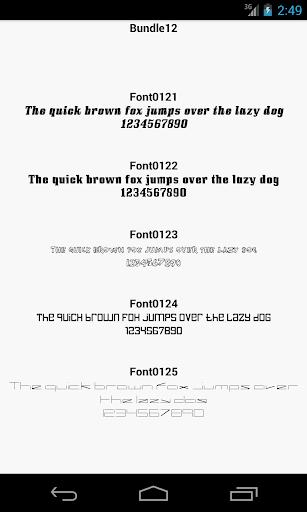 Fonts for FlipFont 12