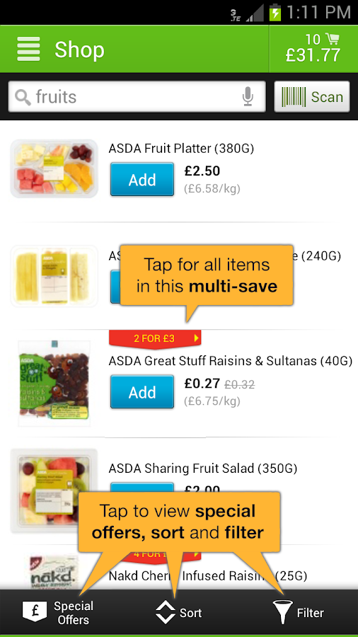 ASDA - screenshot