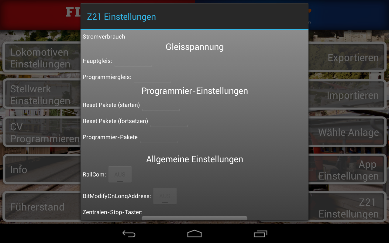 Z21 mobile - screenshot