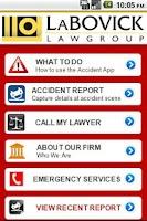 Screenshot of Crash Detective Accident App