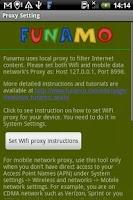 Screenshot of Funamo Proxy Settings