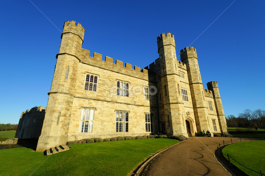 Leeds Castle by Dark Reid - Buildings & Architecture Public & Historical ( exterior, leeds castle, kent, battlements, historical,  )