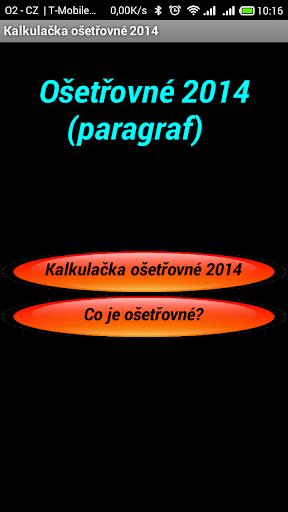 Kalkulačka Ošetřovné 2014 CZ