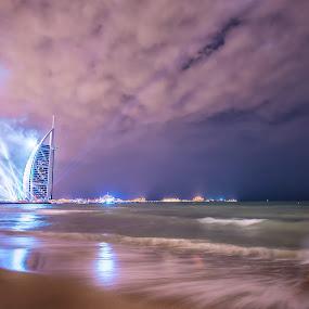 Burj Al Arab Beach by Manoj Kumar Kd - Buildings & Architecture Public & Historical ( uae, burj al arab, burj al arab beach )
