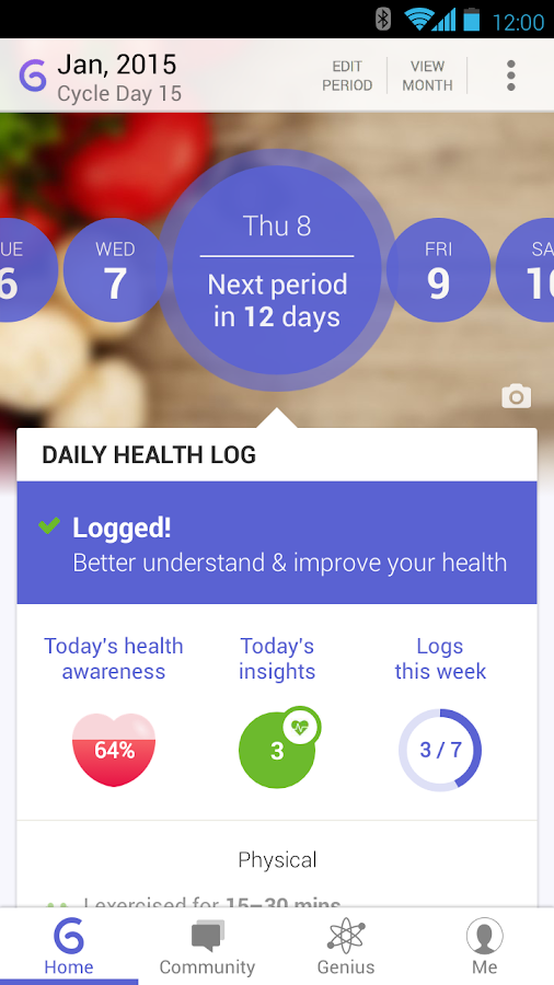 Ovulation and Period Tracker - screenshot