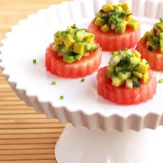 Avocado Watermelon Bites.