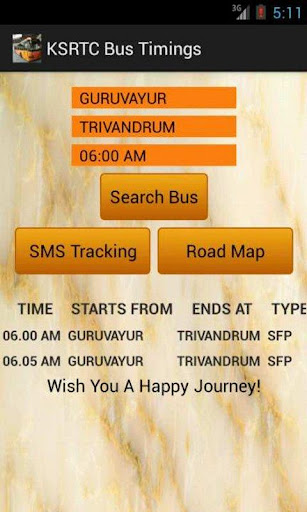 KSRTC Kerala Bus Timings
