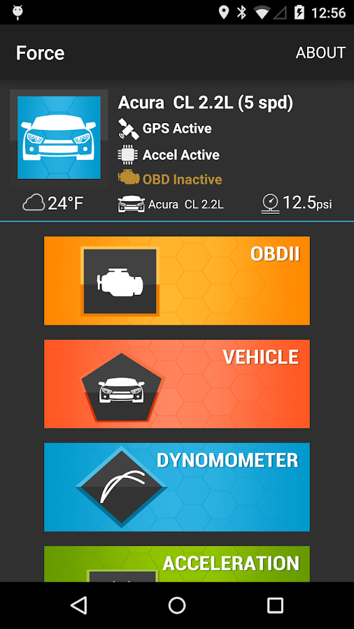 Force OBDII and Performance- screenshot