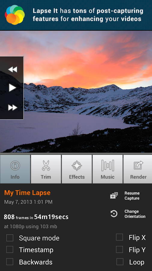 Lapse It • Time Lapse Camera - screenshot