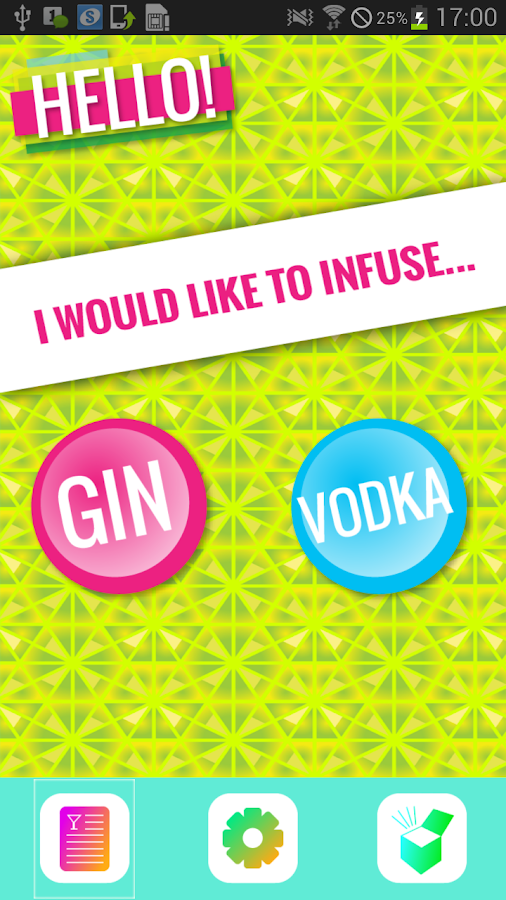 Infusion reipes - gin & vodka- screenshot