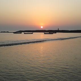 Mud Island Sunset  by Kushal Mittal - Landscapes Sunsets & Sunrises