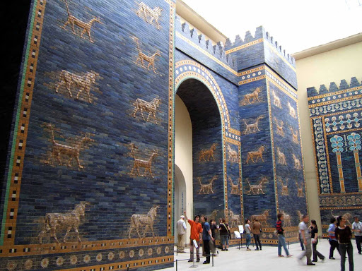 Ishtar-Gate-at-Berlin-Museum -  Ishtar Gate at the Pergamon Berlin Museum.