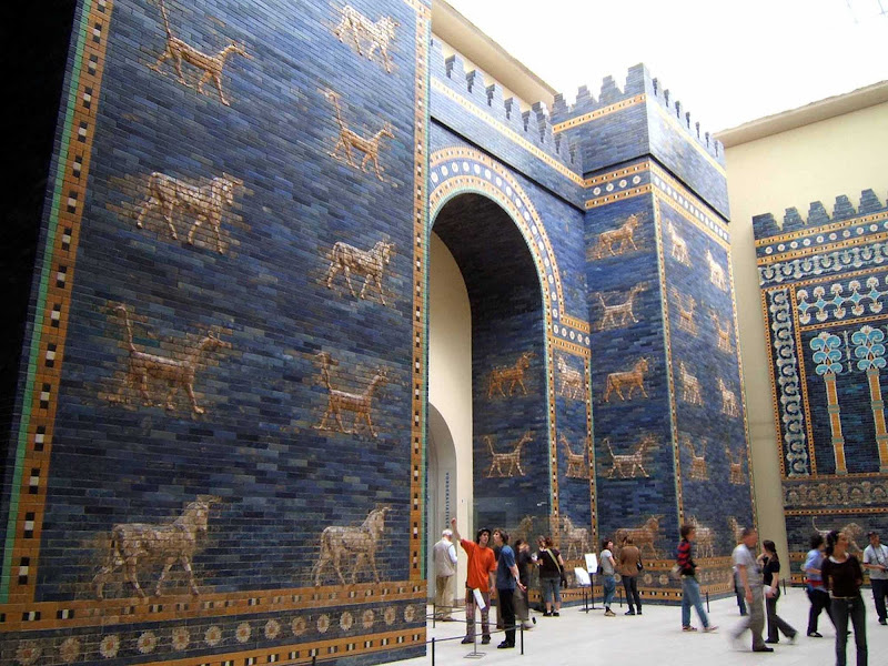 Ishtar Gate at the Pergamon Berlin Museum.