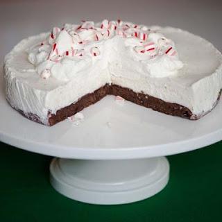 Frozen Black Bottom Peppermint Pie