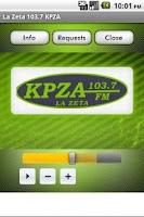 Screenshot of La Zeta 103.7 KPZA