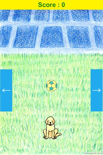 わんわんリフティング 簡単サッカーゲーム