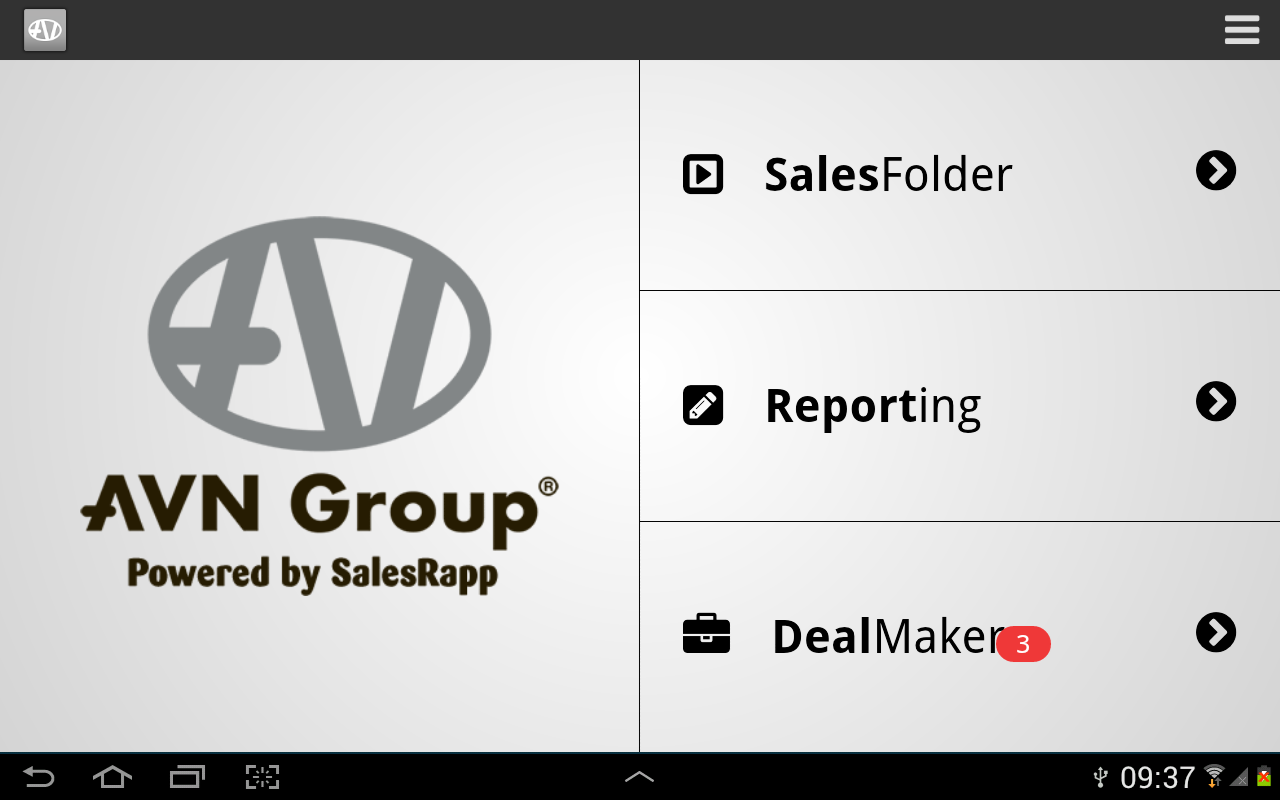 AVNGroup SalesRapp- screenshot