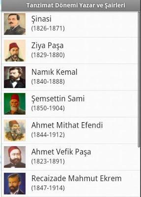 Tanzimat Sanatçıları-Eserleri - screenshot