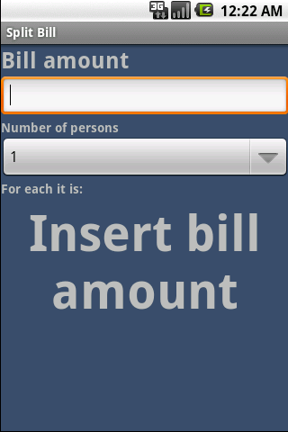 Split Bill - screenshot