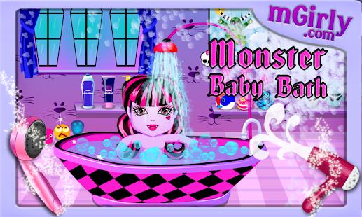 Baby Games - Monster Baby Bath