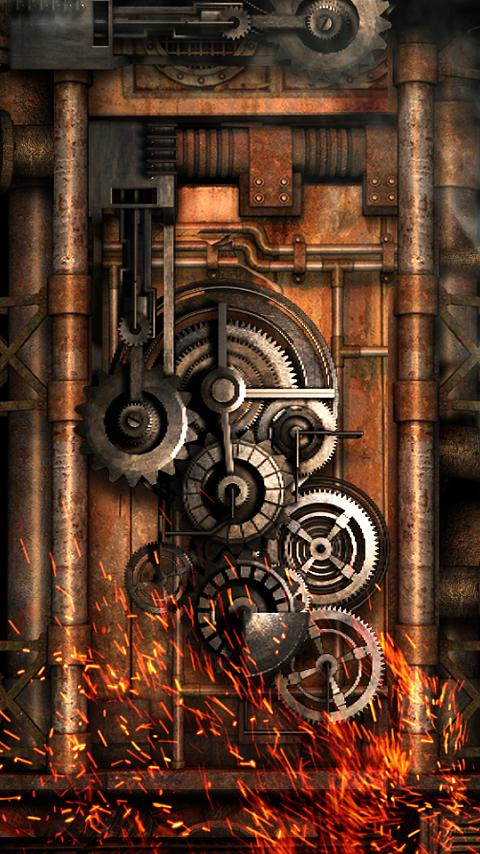 Steampunk live wallpaper gears android apps on google play for Steampunk wallpaper home