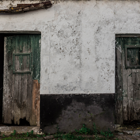 Neighbors by Alexandre Mestre - Buildings & Architecture Decaying & Abandoned ( labor, field, beja, doors, old door, village, alentejo, ruins, portugal, decay, country, abandoned,  )