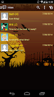 Screenshot of Handcent 6 Bewitched Halloween
