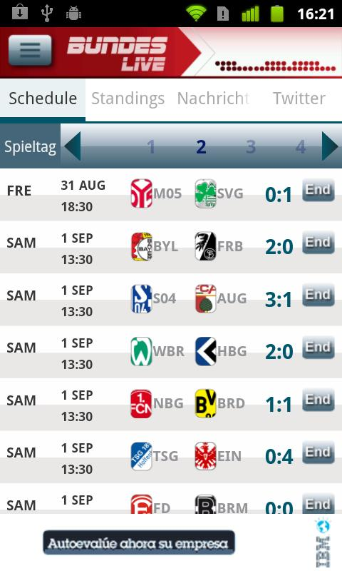 Bundesliga Live - screenshot