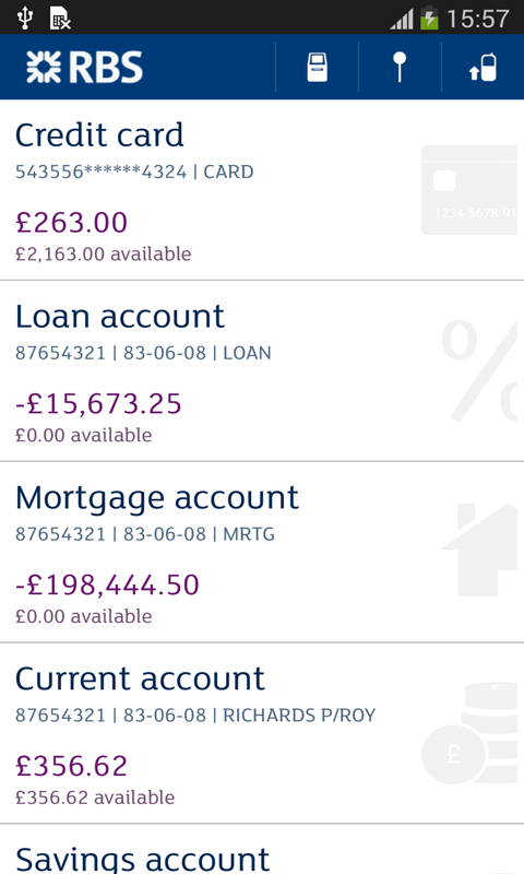 Royal Bank, RBS - screenshot