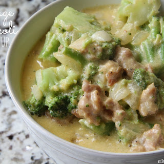 Sausage and Broccoli Cheese Soup.