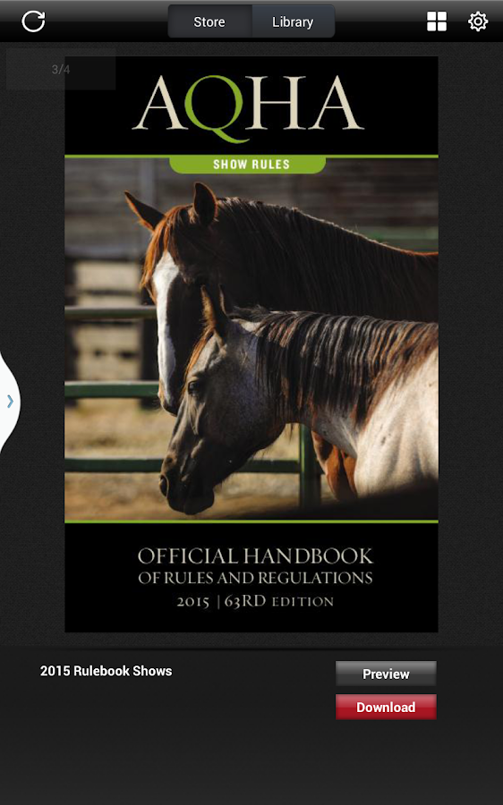 AQHA Rules- screenshot