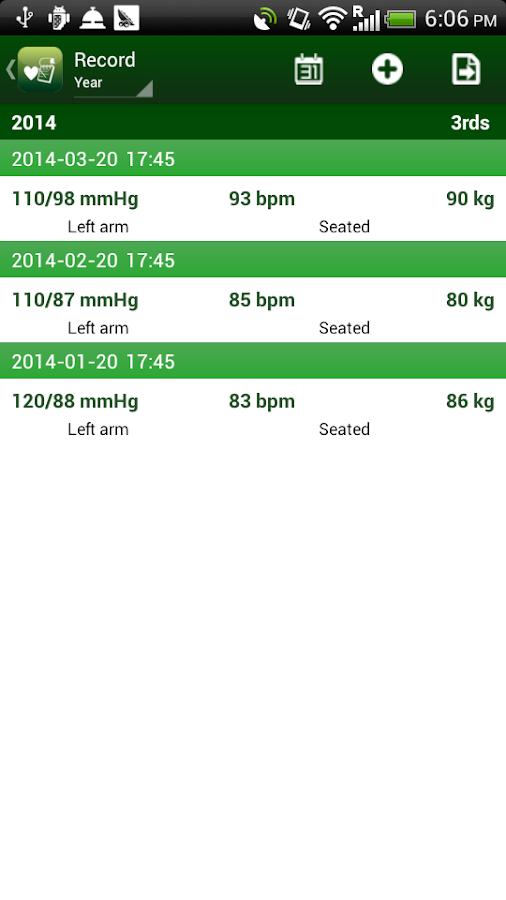 Blood Pressure Tracker- screenshot