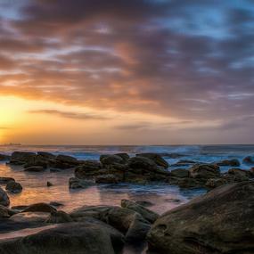 Umhlanga Rocks morning by Ian Damerell - Landscapes Beaches ( water, sunrise, seascape, beach, morning, landscape, rocks )