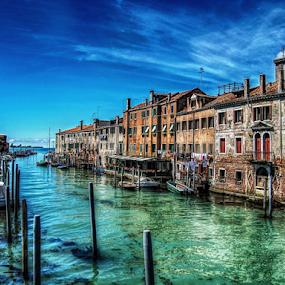 Venezia, Giudecca by Andrea Conti - City,  Street & Park  Historic Districts ( laguna, waterscape, boats, venice, sea, giudecca, italy, canal, historic,  )