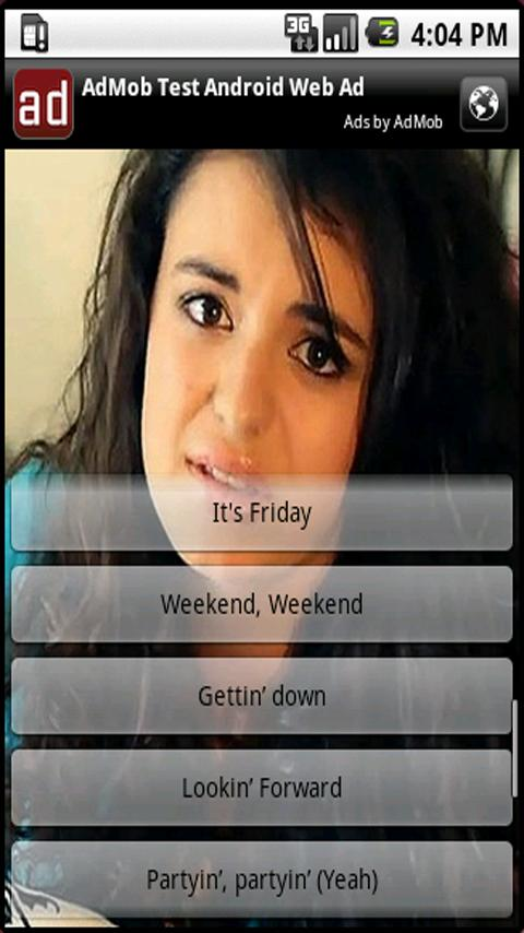 Rebecca Black - Friday - screenshot
